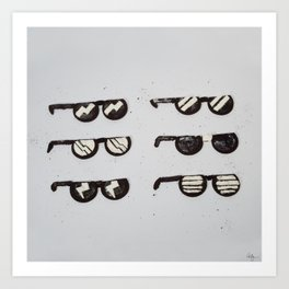 Oreo Sunglasses Art Print