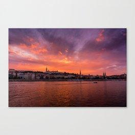 Budapest sunset Canvas Print