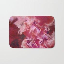 Interior Design Art- Avant Garde Art- Red- Pattern Art- Sacred Geometry- Landscape Art Bath Mat