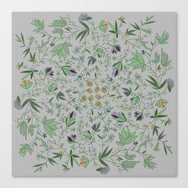 Floral Weave Multi Canvas Print