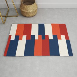 Minimalist Abstract colored stripes  Rug