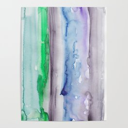 4   190907   Watercolor Abstract Painting Poster