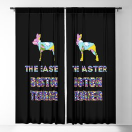 Boston Terrier gifts   Easter gifts   Easter decorations   Easter Bunny   Spring decor Blackout Curtain