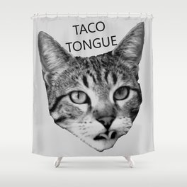 Taco Tongue Shower Curtain