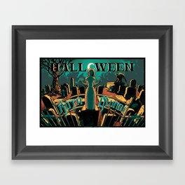 KOTA MUNDI Halloween Poster Framed Art Print