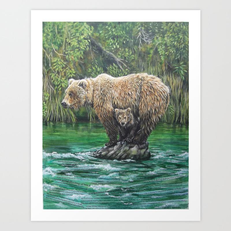Bear Today, Gone Tomorrow? Art Print by Clbletsis PRN6842120