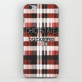 Ohio State Buckeye Plaid iPhone Skin