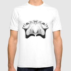 Mirrored Compassion White MEDIUM Mens Fitted Tee