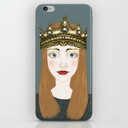 a girl and a crown  iPhone Skin
