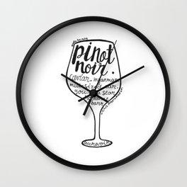 Pinot Noir Wall Clock