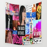 birthday Wall Tapestries featuring birthday by Aldo Couture