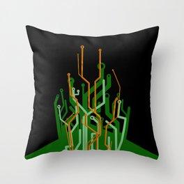 Circuit tree Throw Pillow