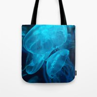 jelly fish Tote Bags featuring Jelly Fish by Robert Payton