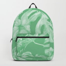 Tropical Palm Leaves Green Backpack