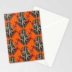 congo tree frog orange Stationery Cards