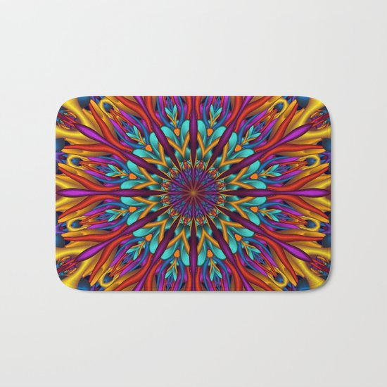 Amazing colors 3D mandala Bath Mat