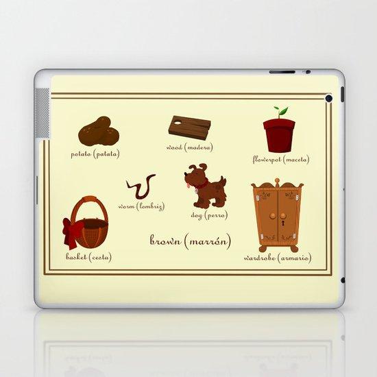 Colors: brown (Los colores: marrón) Laptop & iPad Skin