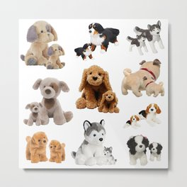 Puppy and Mommy Fluffy Dogs Metal Print