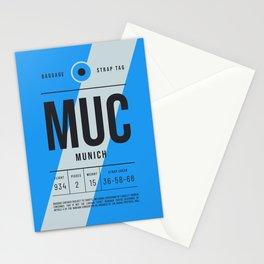 Luggage Tag E - MUC Munich Germany Stationery Cards