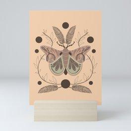 Harvest Moon Moth Mini Art Print