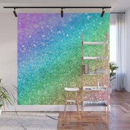 Rainbow Princess Glitter #1 (Photography) #shiny #decor #art #society6 Wall Mural