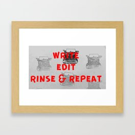 Rinse and repeat Framed Art Print