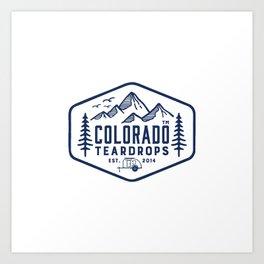 Colorado Teardrops Art Print
