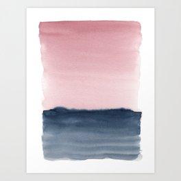 Pink Indigo Abstract No. 2 Art Print