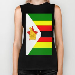 Flag of Zimbabwe Biker Tank