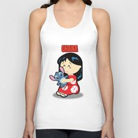 lilo and stitch Tank Tops featuring Ohana Lilo and Stitch by Jasmine Victoria