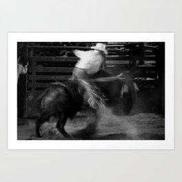 Bull Riding Art Print