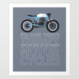 motorcycles Art Print