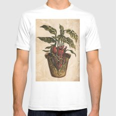Heart Plant MEDIUM White Mens Fitted Tee