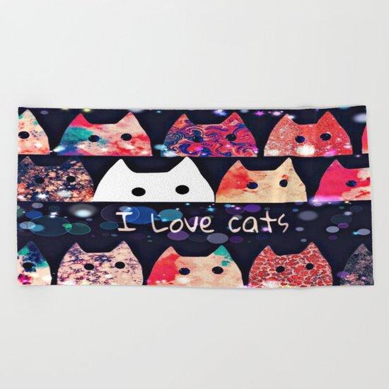 cat-908 Beach Towel