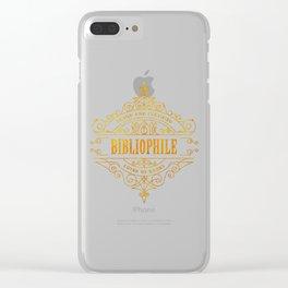 Gold Bibliophile Clear iPhone Case