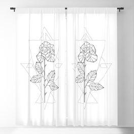 Polygonal Rose Blackout Curtain
