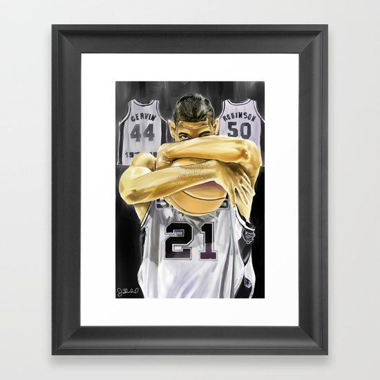 Duncan and the three pillars Framed Art Print