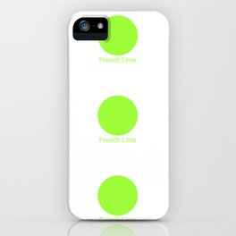 French Lime iPhone Case
