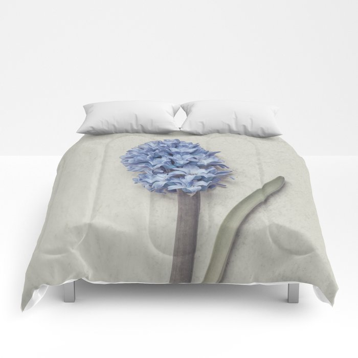 One Light Blue Hyacinth Comforters
