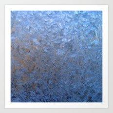 The freezing glass. Art Print