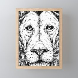 Lion Dots Framed Mini Art Print