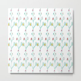 Leaf Motif Collection, the flower Metal Print