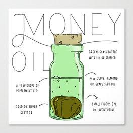 Money Oil - Magic Abundance Potion Canvas Print