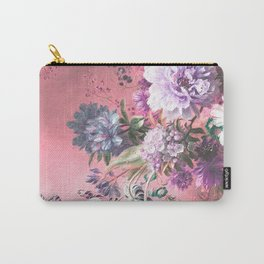 Pink Misty Master Floral Carry-All Pouch