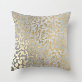 Modern elegant abstract faux gold silver pattern Throw Pillow
