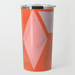 Mid Century Mod in Orange Travel Mug