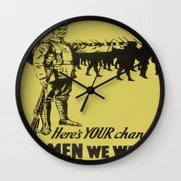 Vintage poster - Canadian Recruiting Wall Clock