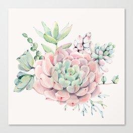 Perfect Pink Succulent Canvas Print
