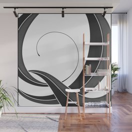 Letter Q - Script Lettering Cropped Design Wall Mural