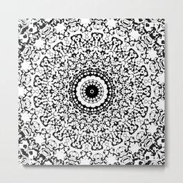 Black and White Mandala 2 Metal Print